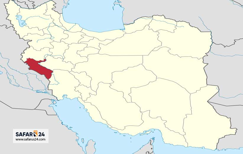 نقشه ایلام