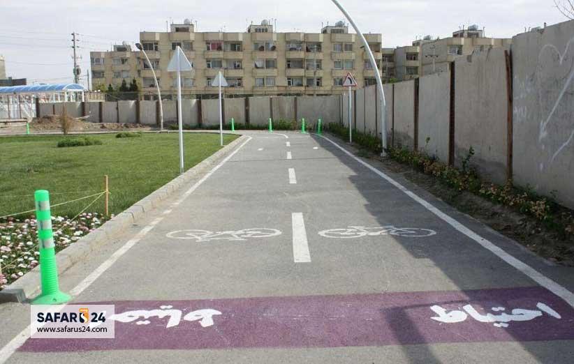 پیست دوچرخه سواری پارک حجاب مشهد