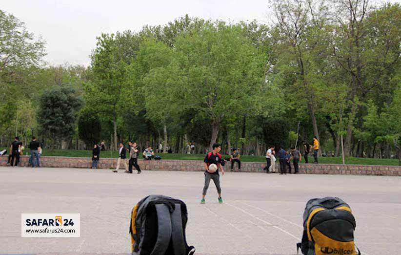 ورزش در پارک ملت مشهد