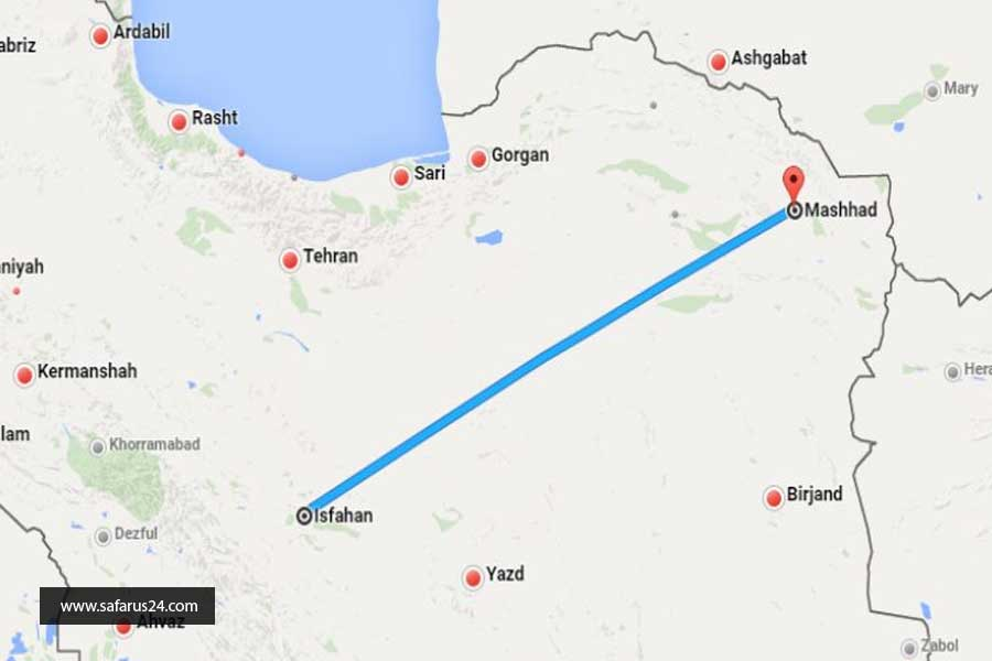 زمان مناسب تور زمینی مشهد از اصفهان