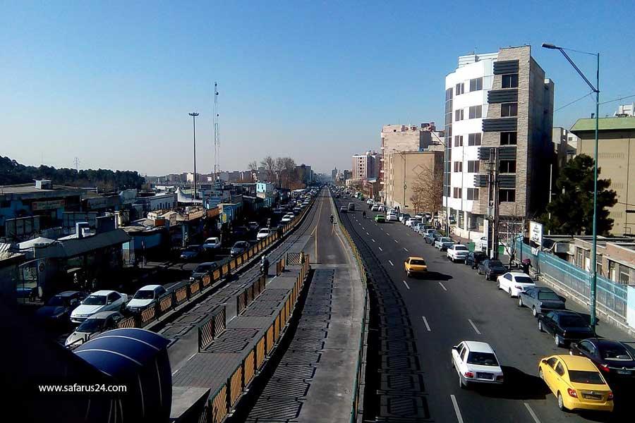 خیابان های مشهد