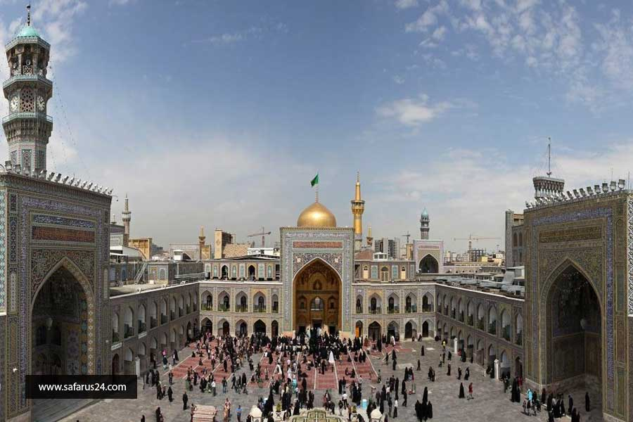 حرم مطهر در تور هوایی از آبادان به مشهد